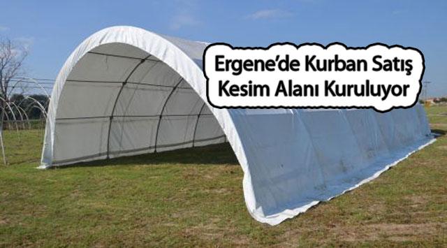 tekirdağ Ergene'de Kurban Satış ve Kesim Alanı Kuruluyor