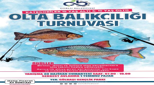 tekirdağ Olta Balıkçılığı Turnuvası Başlıyor