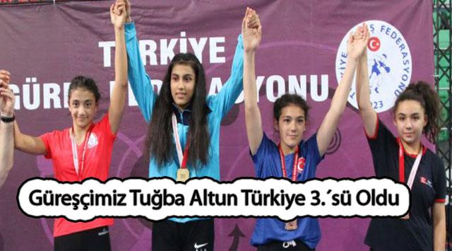 tekirdağ Güreşçimiz Tuğba Altun Türkiye 3.´sü Oldu