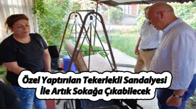 tekirdağ Özel Yaptırılan Tekerlekli Sandalyesi İle Artık Sokağa Çıkabilecek