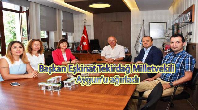 tekirdağ Başkan Eşkinat Tekirdağ Milletvekili Aygun'u ağırladı
