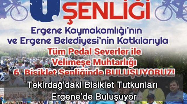 tekirdağ Tekirdağ'daki Bisiklet Tutkunları Ergene'de Buluşuyor