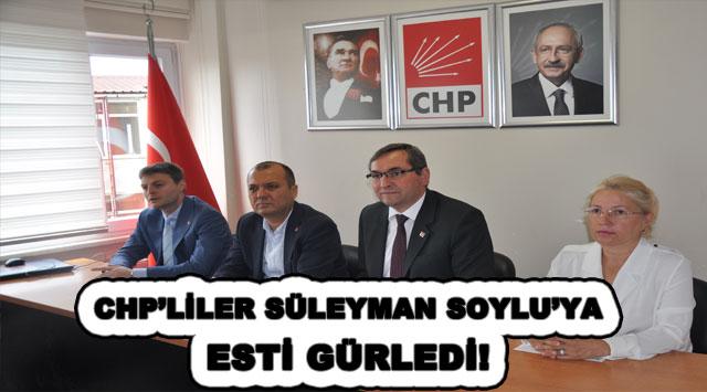 tekirdağ CHP'LİLER SÜLEYMAN SOYLU'YA ESTİ GÜRLEDİ