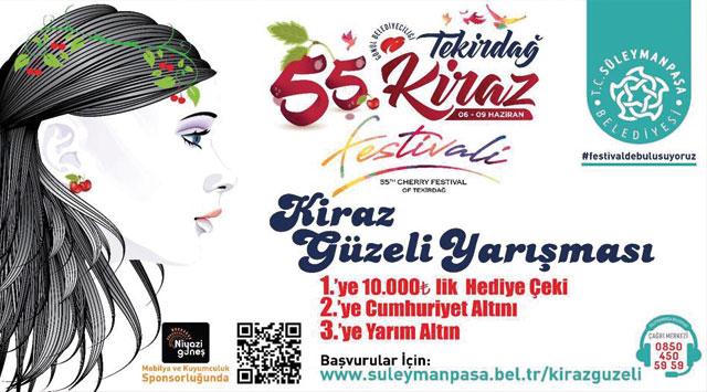 tekirdağ Tekirdağ'ın en güzel kızı Kiraz Festivali'nde seçilecek