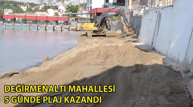 tekirdağ DEĞİRMENALTI MAHALLESİ 5 GÜNDE PLAJ KAZANDI