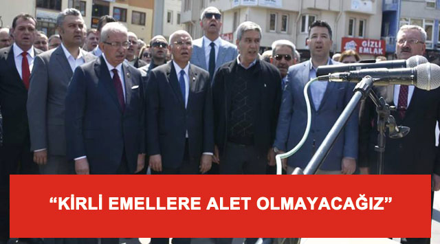 """tekirdağ """"KİRLİ EMELLERE ALET OLMAYACAĞIZ"""""""