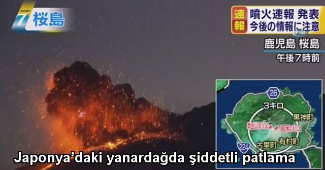 tekirdağ Japonya'daki yanardağda şiddetli patlama