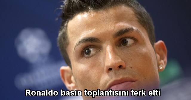 tekirdağ Ronaldo basın toplantısını terk etti