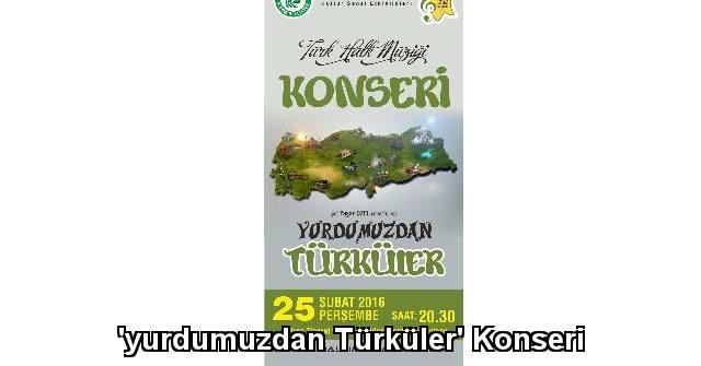 tekirdağ 'yurdumuzdan Türküler' Konseri