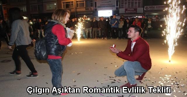 tekirdağ Çılgın Aşıktan Romantik Evlilik Teklifi