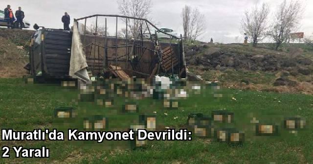 tekirdağ Muratlı'da Kamyonet Devrildi: 2 Yaralı