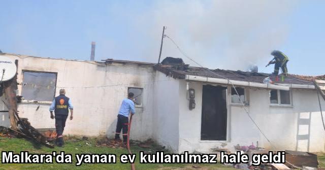 tekirdağ Malkara'da Yanan Ev Kullanılmaz Hale Geldi