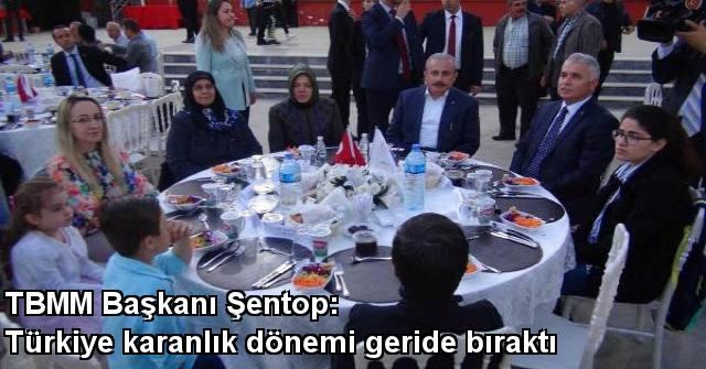 tekirdağ TBMM Başkanı Şentop: Türkiye Karanlık Dönemi Geride Bıraktı