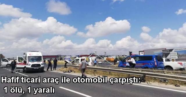 tekirdağ Hafif Ticari Araç İleotomobil çarpıştı: 1 Ölü, 1 Yaralı