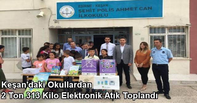 tekirdağ Keşan'daki Okullardan 2 Ton 313 Kilo Elektronik Atık Toplandı