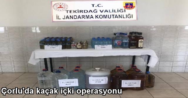 tekirdağ Çorlu'da Kaçak İçki Operasyonu