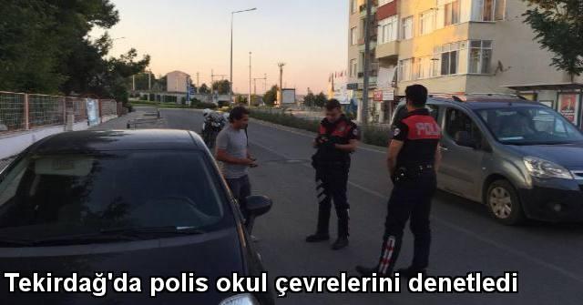 tekirdağ Tekirdağ'da Polis Okul Çevrelerini Denetledi