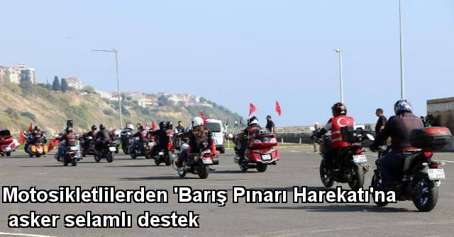 tekirdağ Motosikletlilerden 'Barış Pınarı Harekatı'na Asker Selamlı Destek