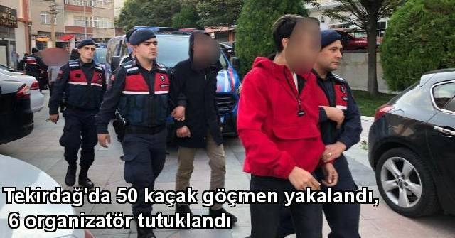tekirdağ Tekirdağ'da 50 Kaçak Göçmen Yakalandı, 6 Organizatör Tutuklandı