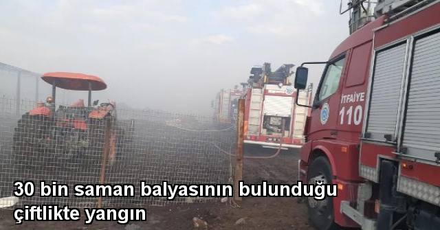 tekirdağ Tekirdağ'da 30 Bin Saman Balyasının Bulunduğu Çiftlikte Yangın