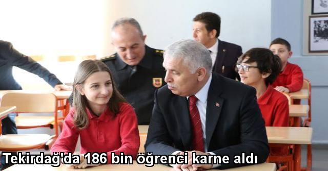 tekirdağ Tekirdağ'da 186 Bin öğrenci Karne Aldı