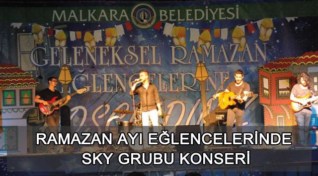 tekirdağ Ramazan Ayı Eğlencelerinde Sky Grubu Konseri