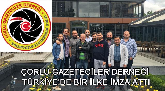 tekirdağ Çorlu Gazeteciler Derneği Türkiye'de Bir İlke İmza Attı