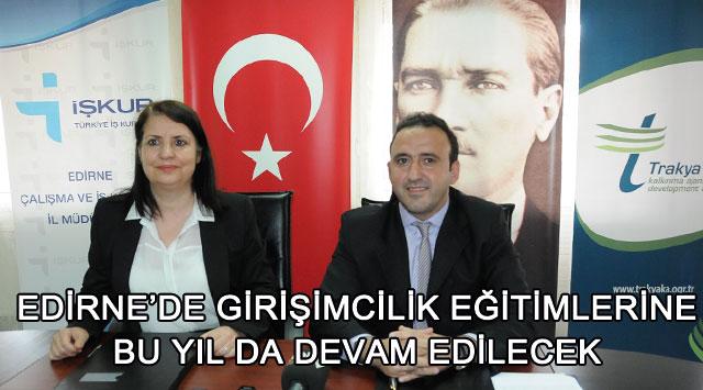 tekirdağ Edirne'de Girişimcilik Eğitimlerine Bu Yıl da Devam Edilecek