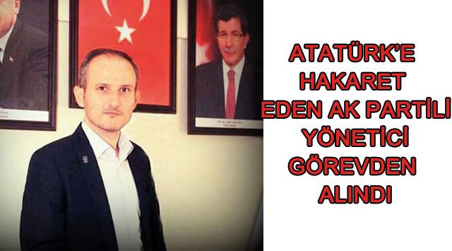 tekirdağ Atatürk'e  Hakaret  Eden Ak Partili  Yönetici  Görevden  Alındı