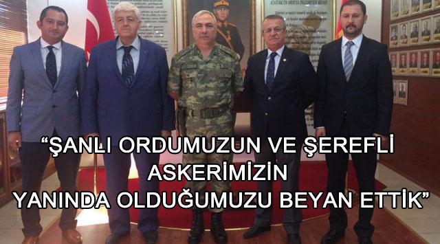 """tekirdağ """"Şanlı Ordumuzun Ve şerefli Askerimizin Yanında Olduğumuzu Beyan Ettik"""""""