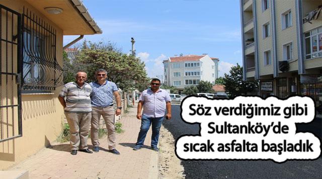 tekirdağ Söz verdiğimiz gibi Sultanköy'de sıcak asfalta başladık