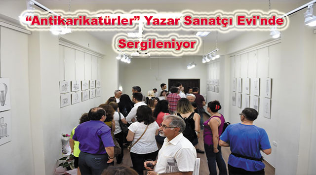 """tekirdağ """"Antikarikatürler"""" Yazar Sanatçı Evi'nde Sergileniyor"""