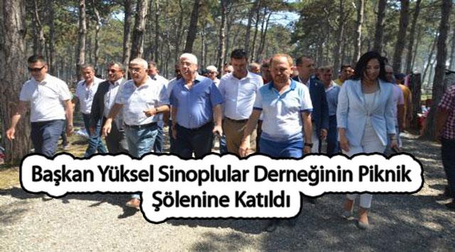 tekirdağ Başkan Yüksel Sinoplular Derneğinin Piknik Şölenine Katıldı