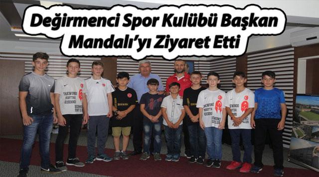 tekirdağ Değirmenci Spor Kulübü Başkan Mandalı'yı Ziyaret Etti