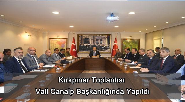 tekirdağ Kırkpınar Toplantısı Vali Canalp Başkanlığında Yapıldı