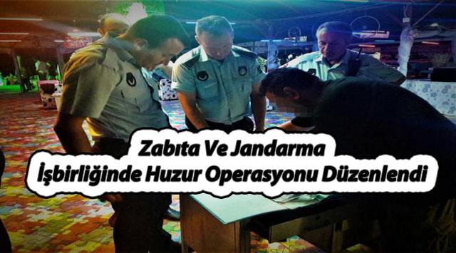 tekirdağ Zabıta Ve Jandarma İşbirliğinde Huzur Operasyonu Düzenlendi